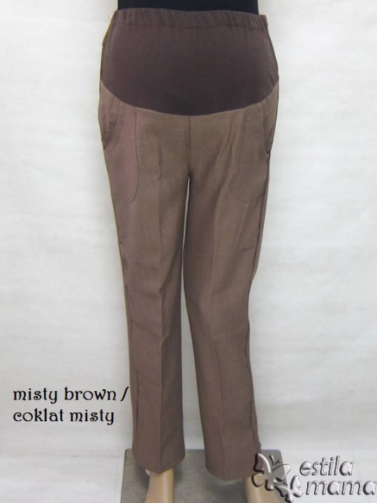 M77129 gb celana hamil pjg coklat misty
