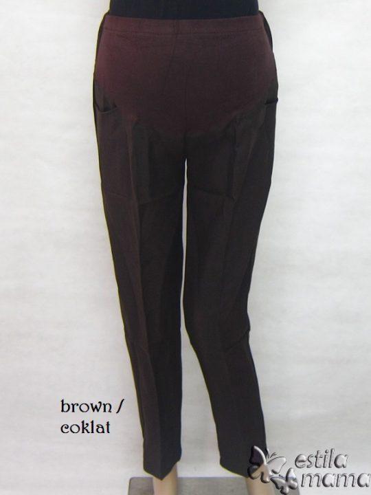 M77179 gb1 celana hamil panjang coklat