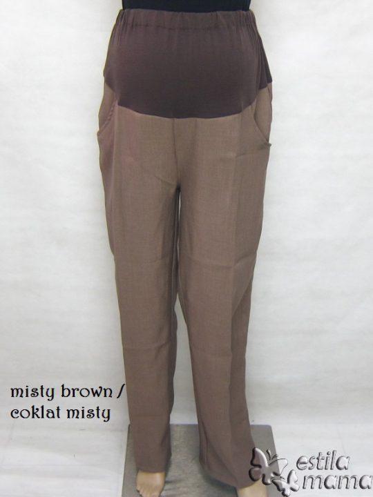 M7776 gb celana hamil pjg coklat misty