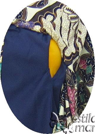 R24171 gb2 baju hamil menyusui lgn pdk biru