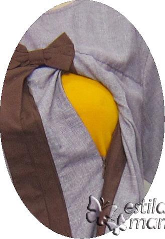 R24172 gb2 baju hamil menyusui lgn pdk coklat