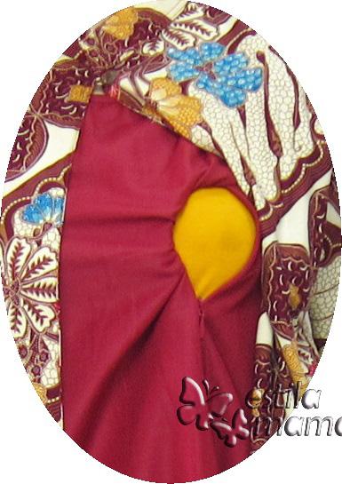 R25162 gb2 baju hamil menyusui lgn pjg marun