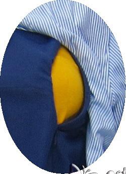 R25165 gb2 baju hamil menyusui lgn pjg biru