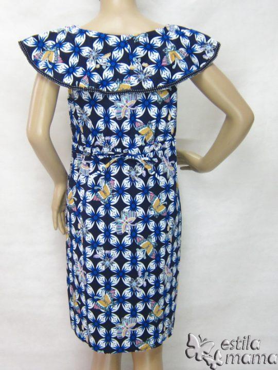 R34242 gb4 dress hamil menyusui lgn pdk biru