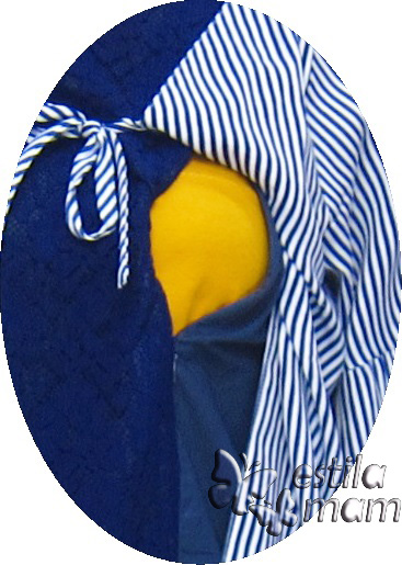 R34246 gb2 dress hamil menyusui lgn pdk biru