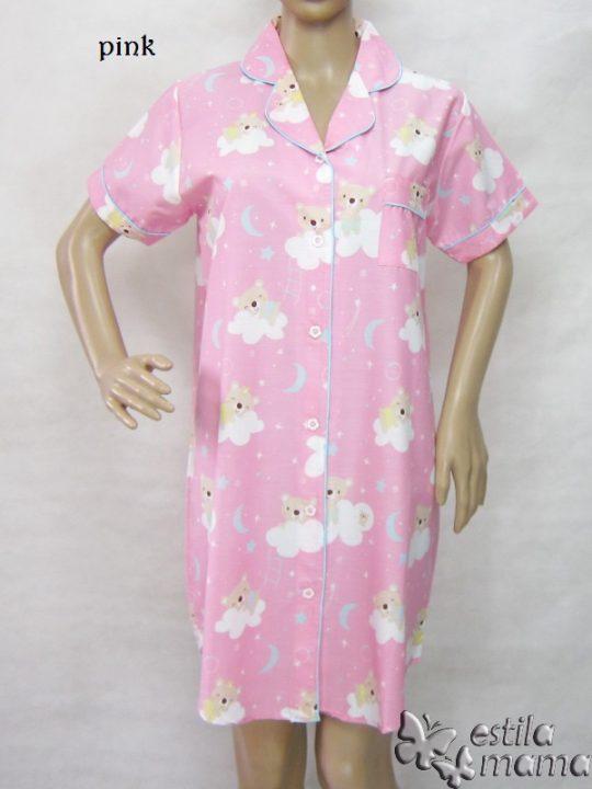 R9775 gb1 daster menyusui lgn pdk pink