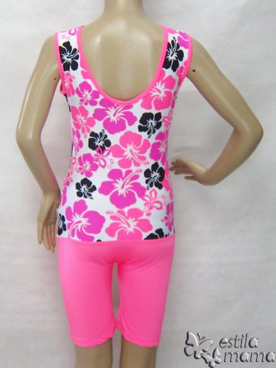 M0253 bunga pink gb3 baju renang hamil