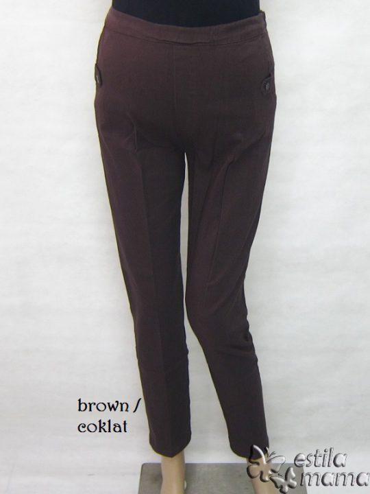 M77103 gb1 celana hamil panjang coklat