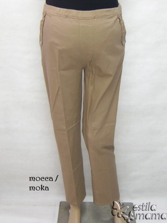 M77182 gb4 celana hamil panjang moka