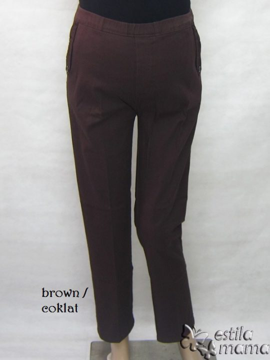M77182 gb5 celana hamil panjang coklat