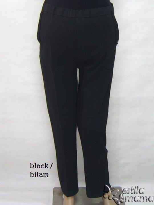 M77182 gb6 celana hamil panjang hitam