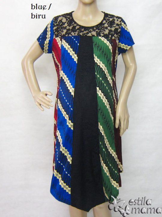 R34253 gb1 dress hamil menyusui lgn pdk biru