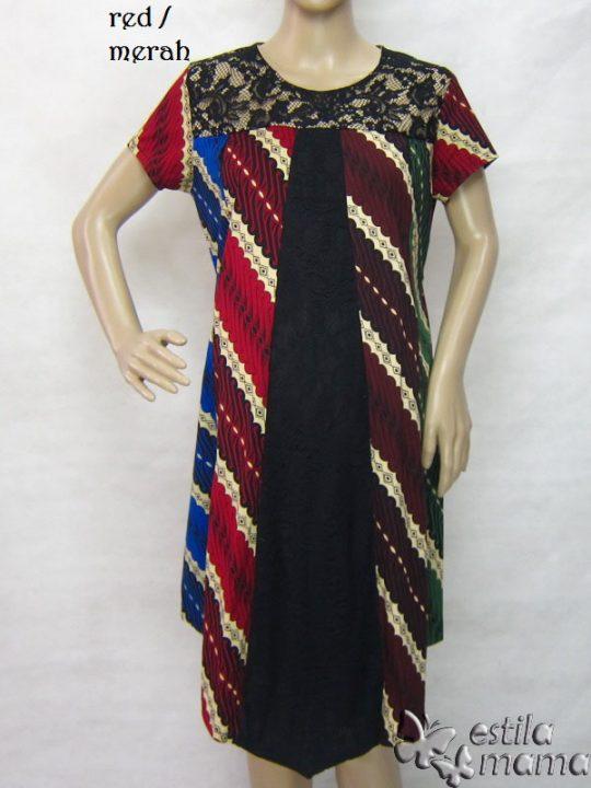 R34253 gb7 dress hamil menyusui lgn pdk merah