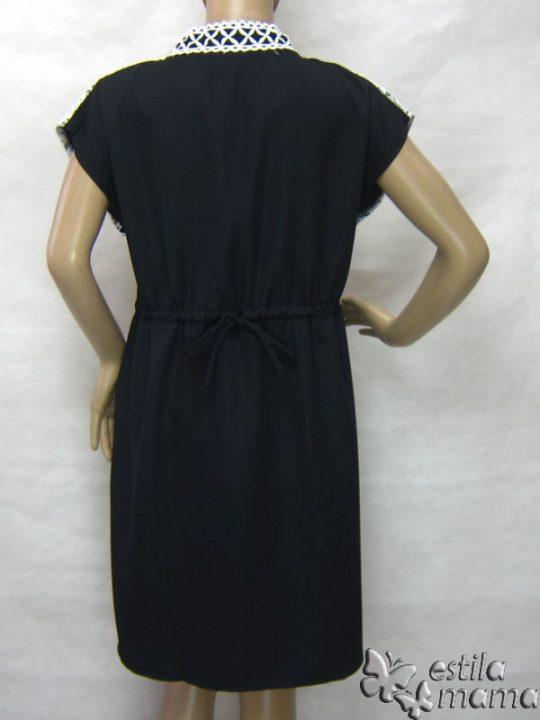 R34255 gb4 dress hamil menyusui lgn pdk hitam