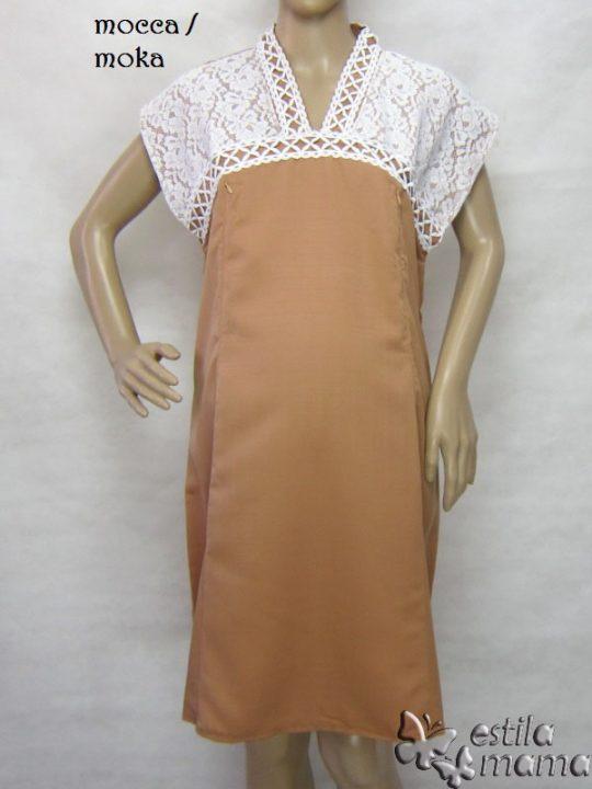 R34255 gb7 dress hamil menyusui lgn pdk moka