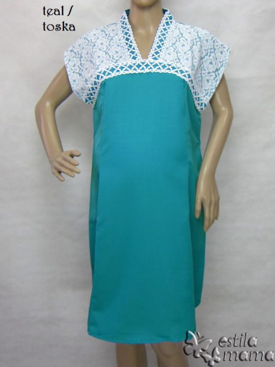 R34255 gb9 dress hamil menyusui lgn pdk toska