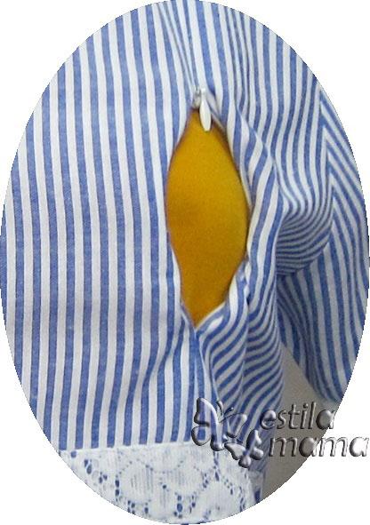 R34259 gb2 dress hamil menyusui lgn pdk biru