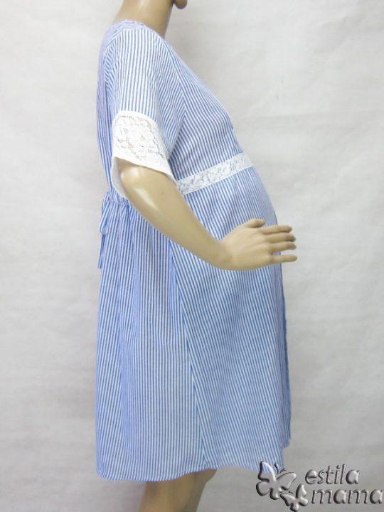 R34259 gb3 dress hamil menyusui lgn pdk biru