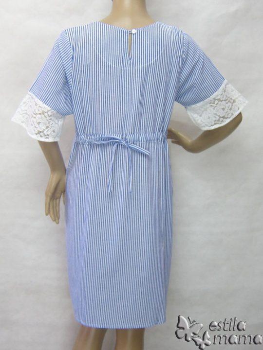R34259 gb4 dress hamil menyusui lgn pdk biru
