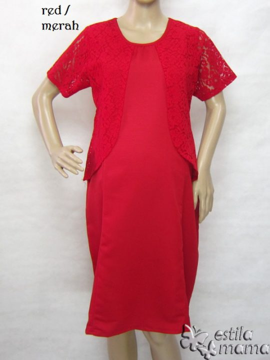 R34261 gb1 dress hamil menyusui lgn pdk merah
