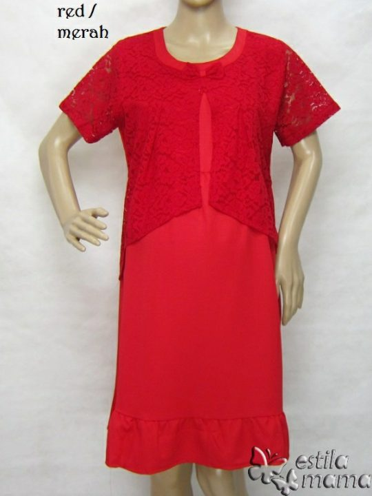 R34264 gb1 dress hamil menyusui lgn pdk merah