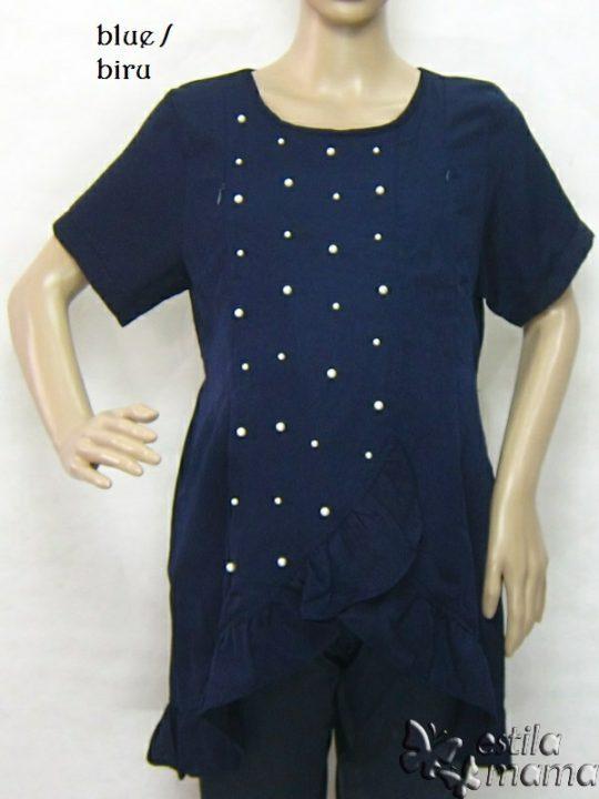 R24175 gb1 baju hamil menyusui lgn pdk biru