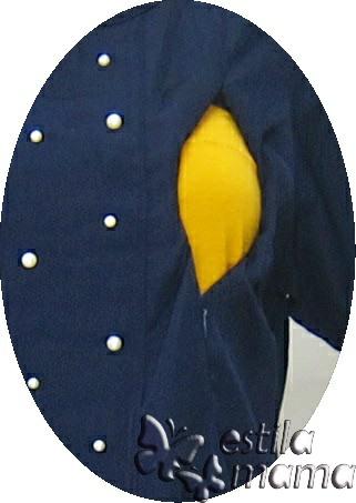R24175 gb2 baju hamil menyusui lgn pdk biru