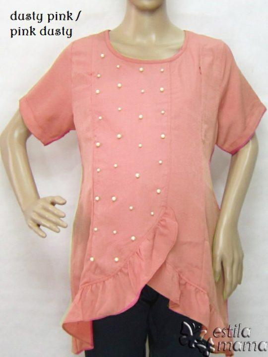 R24175 gb8 baju hamil menyusui lgn pdk pink dusty