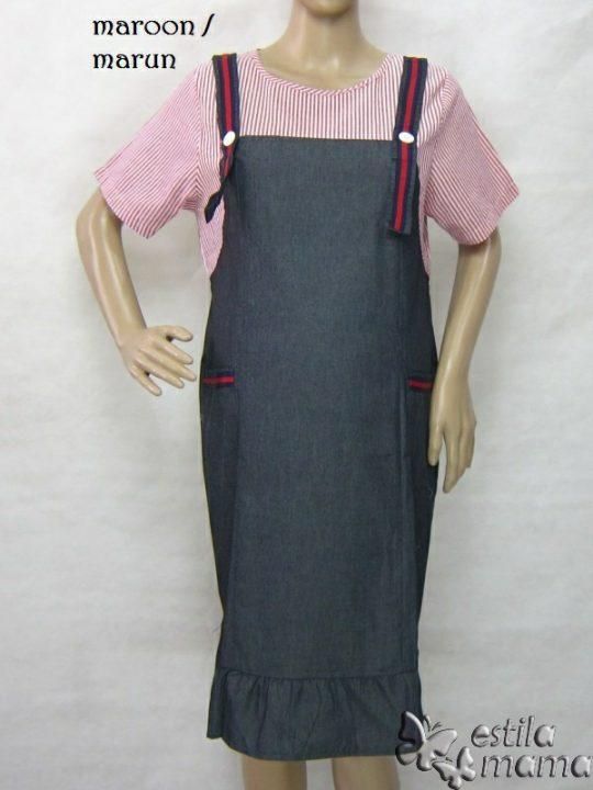 R34268 gb6 dress hamil menyusui lgn pdk marun