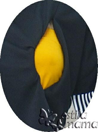 R34270 gb2 dress hamil menyusui lgn pdk hitam