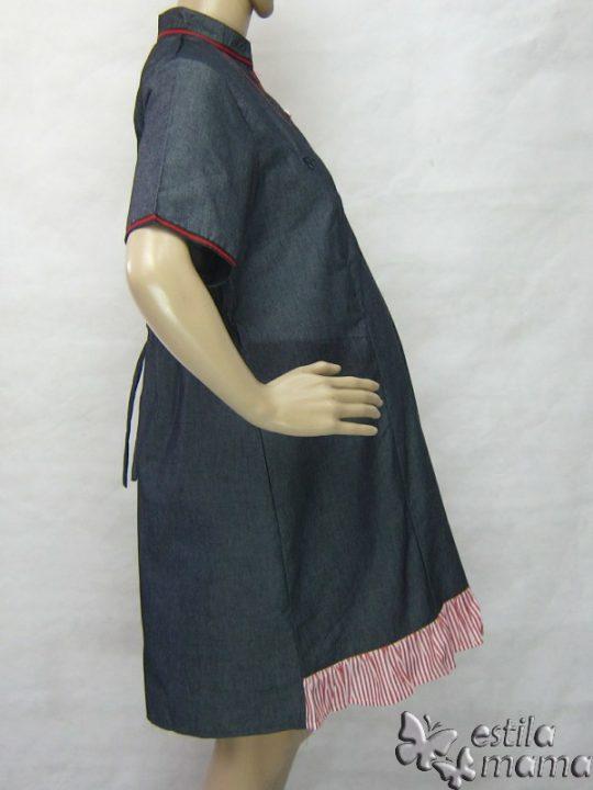 R34271 gb3 dress hamil menyusui lgn pdk salur marun