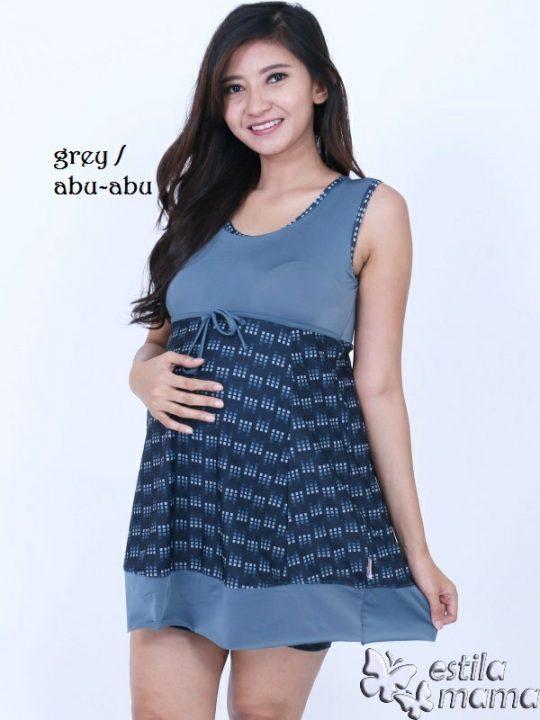 M0251 gb1 baju renang hamil abu-abu